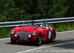 DSC_6589 - Austin Healey 100 M Le Mans - 1955 - Wood David Roberts - Club Austin Healey (pietroz) Tags: silver photo foto photos flag historic fotos pietro storico zoccola 21 storiche vernasca pietroz