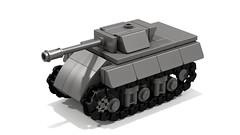 M10 Wolverine mini tank destroyer (Tamas090) Tags: ww2 m10 td ustank m10wolverine minilegotankdestroyer minilegotank ww2tankdestroyer