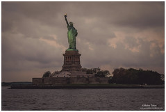 Statue of Liberty (Moyse911) Tags: park new york city urban rescue usa newyork building love rock brooklyn jaune square liberty fire amazing fuji state time top manhattan taxi great central grand libert empire flatiron ville unis amricain xe1 amerique tats xt1 dowtone mildeltown