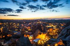 Goreme sunset | Cappadocia, Turkey (bucketpong) Tags: light sunset rock night turkey landscape town long exposure dusk sony cappadocia goreme a7ii