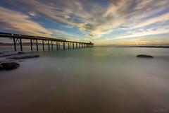 Final Frame (Crouchy69) Tags: ocean sea sky seascape clouds sunrise landscape dawn bay coast pier long exposure jetty hill ruin australia catherine wharf nsw