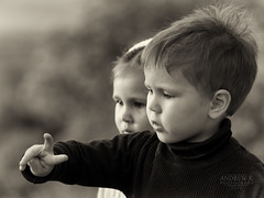 a tie count (koliru) Tags: sepia canon children blackwhite boken 6d ef70200mm