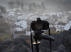 P3050389new (klausen hald) Tags: china morning mist mountain fog sunrise landscape countryside village outdoor country mountainside morningmist wuyuan shicheng