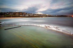 Between the Lanes (Crouchy69) Tags: ocean sea sky seascape beach water pool clouds sunrise landscape dawn coast rocks long exposure sydney australia bronte