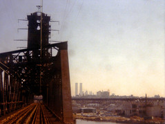 The view from a PATH train end-window on a trip from Newark to New York. The shoreline of the Passaic River, the Pulaski Skyway viaduct, The World Trade Center and Lower Manhattan skyline visible in the smoggy background. Jersey City. March 1977 (wavz13) Tags: industry toxic rust industrial grain rusty meadowlands newyorkskyline bleak manhattanskyline twintowers oldphotographs grainy oldphotos oldnewyork instamatic vintagephotos rustbelt dystopia urbanblight oldphotography oldfactory vintagephotographs industrialruins urbanwasteland 110film historicphotos historicphotography oldindustry industrialwasteland dystopic vintagephotography oldfactories vintageindustrial factoryruins historicphotographs newyorkphotos oldbridges vintagenewyork oldindustrial 1970sphotos newyorkphotographs pocketinstamatic vintagefactory oldjerseycity oldmanhattan vintageindustry jerseycityhistory newjerseyhistory 1970sphotographs vintagemanhattan 1970sphotography vintagebridges industrialnewjersey vintagejerseycity vintagenewjersey 1970snewyork 1970smanhattan 1970snewjersey 1970sjerseycity vintagefactories oldnewjersey vintagehudsoncounty oldhudsoncounty vintagenewyorkphotographs industrialjerseycity oldnewyorkphotography oldnewyorkphotos jerseycityphotographs jerseycityphotos oldjerseycityphotography oldjerseycityphotos vintagenewyorkphotography vintagenewyorkphotos vintagejerseycityphotography