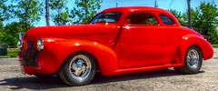 1940 Chevy Coupe at the Old No 12 Cafe & Lounge in Ste. Anne, Manitoba (ezigarlick) Tags: 1940 chevy chevrolet generalmotors coupe streetrod hotrod classic vintage car oldno12cafelounge cafe restaurant lounge steanne sainteanne manitoba canada