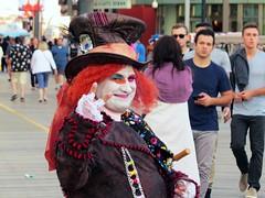 Colorful Boardwalk Character (Multielvi) Tags: new city portrait man guy costume colorful character nj dude atlantic shore jersey boardwalk
