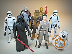 Takara Tomy  Star Wars Metal Collection (Metacolle) Diecast Figures Series #14, #15 and Other Force Awakens Guys  Over Here~ Over Here~~ (My Toy Museum) Tags: metal star collection darth rey wars takara tomy chewbacca maul diecast metacolle