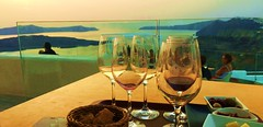 Cheers to You All ... from Santorini  (dodagp) Tags: hellas greece greekislands cyclades santorini thera aegeanarchipelagos summer holidays wishes sunsetcolours santoriniwineries vinsanto assyrtiko athiri cheerstoyouall