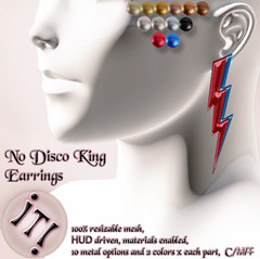 !IT! - No Disco King Earrings Image (IT! (Indulge Temptation!)) Tags: inspiration it sl event secondlife exclusive davidbowie inspirationsl indulgetemptation itindulgetemptation