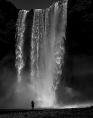 Veiled in Water's Light, Skogafoss, Iceland (gks18) Tags: travel portrait people nature canon outdoors iceland