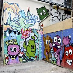 Rotterdam graffiti (Akbar Sim) Tags: rotterdam holland nederland netherlands graffiti streetart akbarsim akbarsimonse lastplak kbtr edorath nol oxalien diekat oles