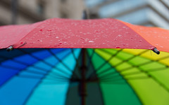 It's Raining Pride - Explored (DobingDesign) Tags: abstract color lines rain umbrella droplets rainbow colours bright citylife pride depthoffield lgbt panels colourful moisture londonpride pridelondon gaypride2016