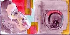 das Schloss war ein Rtsel vielleicht oder eine Prfung (raumoberbayern) Tags: auto city pink winter bus fall smart car pencil paper munich mnchen landscape herbst tram sketchbook stadt papier landschaft bleistift robbbilder skizzenbuch strasenbahn