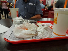 Consumed (stevenbrandist) Tags: travel food airport burgerking meal tray manchesterairport travelogue