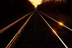 14-8261m (George Hamlin) Tags: railroad light shadow dark point photography virginia photo george track rails decor vanishing shining glint hamlin calverton