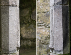 Rosserk Friary Round Tower profiles (backpackphotography) Tags: ireland ruins ruin carving mayo carvings friary franciscan rosserkfriary rosserk backpackphotography