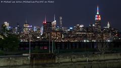 New York Pride Skyline - 2016 (DSC01682) (Michael.Lee.Pics.NYC) Tags: longexposure newyork skyline night newjersey jerseycity cityscape sony newport hudsonriver midtownmanhattan a7rm2 fe70300mmg