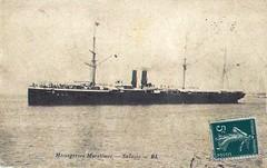 1905-1912 SALAZIE (MIKOS-35) Tags: les paquebots postes des messageries avaient une livre blanche lorsquils taient sur la ligne dextrmeorient sagon japon et coque noire autres lignes