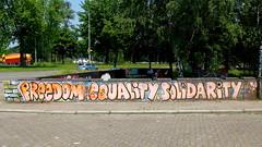Graffiti (oerendhard1) Tags: urban streetart art graffiti freedom lucy eindhoven solidarity parsons equality berenkuil