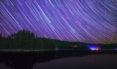 Star trails at Golyam Beglik (Terra.priest) Tags: longexposure nightphotography lake forest star purple trails