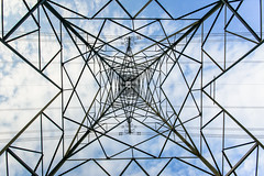 Inside a Pylon (KopeX) Tags: york england pattern unitedkingdom sony yorkshire wide sigma wideangle symmetry pylon symmetrical hdr highdynamicrange 10mm stillington sigma1020 sigma10mm sonyalpha nathanreynolds kopex sonya77 nreynolds