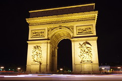 The Arc de Triomphe de l'toile (ELCAN KE-7A) Tags: paris france arch pentax arc triomphe illumination k5  toile triumphal