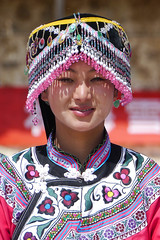 Guizhou - Village Qiechong (Rita Willaert) Tags: china tradition guizhou minorities southwestchina weining minderheden bijie villageqiechong bigflowermiao etnicpeople