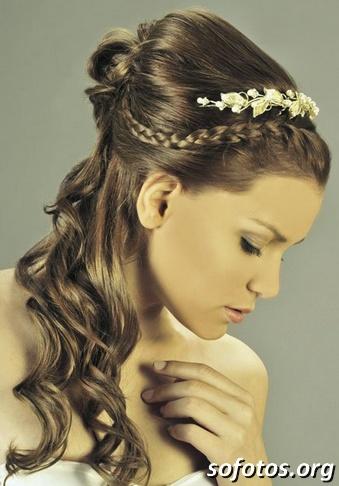 Penteado para noivas com trança
