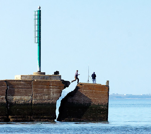 Broken breakwater