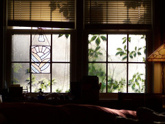 Indoor Sunset After Rain (geoffreydrake) Tags: sundown windowpane windowlight settingsun afternoonlight