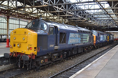 37667,601&607-CreweStn-11.5.13 (shaunnie0) Tags: growler drs class37 crewestation 37607 37667 directrailservices 37601 0z37