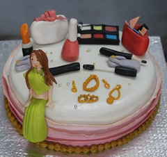 Shop for all good things and Party (the Baker & the School) Tags: party lady makeup purse fondant