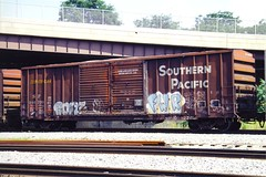 FWR - on SP 246233 at Cumberland MD July 19, 1998 (cogp39) Tags: graffiti trains sp 1998 southernpacific freightcars
