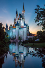 Cinderella Castle Sunrise (.Mearn) Tags: disney waltdisneyworld magickingdom fantasyland cinderellacastle