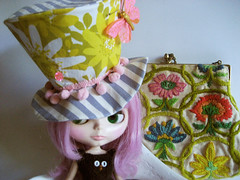 The Lawrence, Mad Fascinator Hat for Blythe