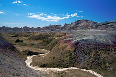 Badlands (Digital Biology) Tags: southdakota landscape nikon badlands streambed