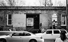 Clear Pairs (timzook) Tags: street people blackandwhite building cars pairs