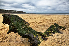 The wreck of the Cintra (Through Bri`s Lens) Tags: cornwall lowtide wreck remains carbisbay canon7d thecintra