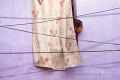 (Zak Photography) Tags: street city blue india girl wall person wire purple candid indian bluecity jpdhpur