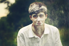 The Face of Winter in Summer (Timmy Reynolds) Tags: portrait self conceptual flour