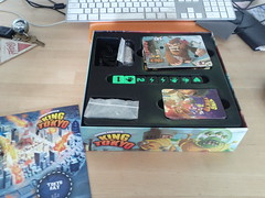 Original King of Tokyo insert, expansion doesn't fit (RobotSkirts) Tags: wood box organizer boardgame kot lasercut iello kingoftokyo