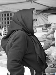 The grandmother (Javi Calvo) Tags: old blackandwhite spain grandmother streetphotography vila javiercalvo javicalvo
