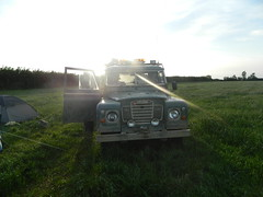 Land Rover series 3 (Caleb_J) Tags: summer sun 3 lights funny driving engine rover bbq perkins land series flashing strobes