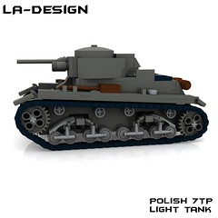 LEGO Custom WW2 Allied 7TP Panzer Tank 2 (LA-Design2012) Tags: lego custom ww2 wwii panzer tank allied alliiert polish 7tp 7 tp t p moc bauanleitung instructions ladesign custombricks bricks pdf xml