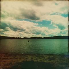 Day 218 -GP and MFM go for a swim (Sharon's Shotz) Tags: ontario canada beach iphone day218 sandlake plevna sussexfilm day218365 hipstamatic 3652013 365the2013edition dorislens 06aug13