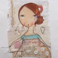 Kitty Sage (pbsartstudio) Tags: art painting mixed media cloth whimsical