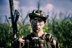 IMG_0614LR (janwellmann) Tags: portrait countryside cornfield gun pennsylvania profile rifle camouflage guns appalachian militia westmoreland