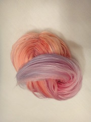 Pastel Ombre reroot for BCNY (Immunoblythe) Tags: alpaca ombre reroot