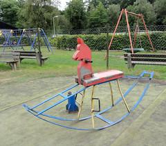 Vintage playground with rocking horse (Studio Momoki) Tags: old horse holland netherlands animal playground vintage oud rockinghorse playgroundequipment